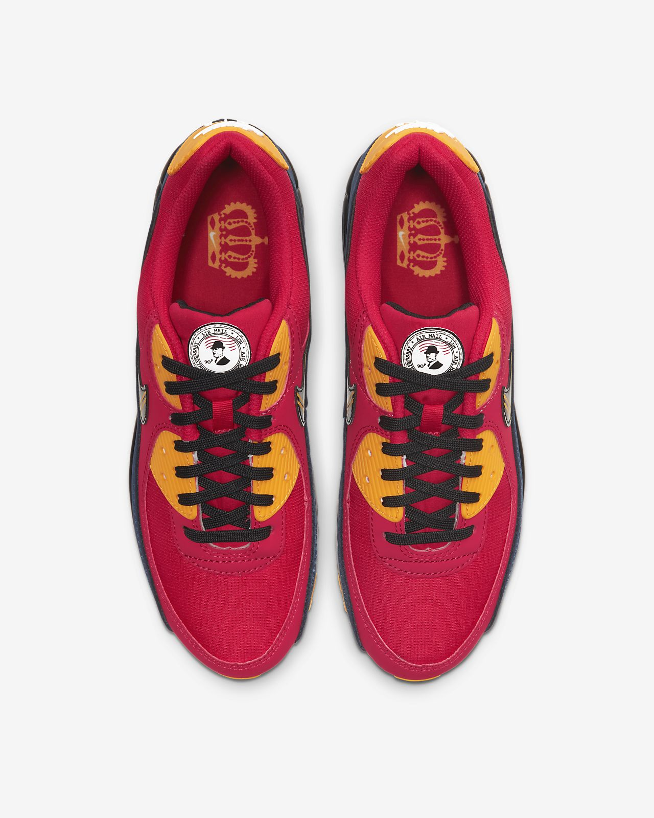 rehén refrigerador bueno  Nike Air Max 90 Premium London City Red Blue Black Mens Shoe