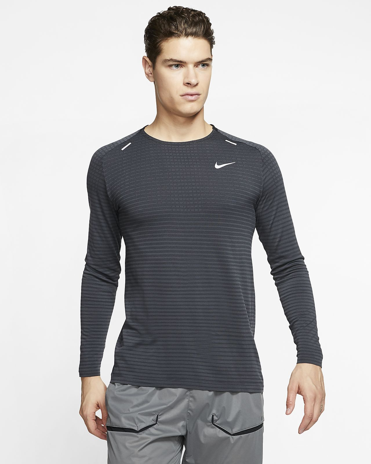 Nike TechKnit Ultra-langærmet løbeoverdel til mænd