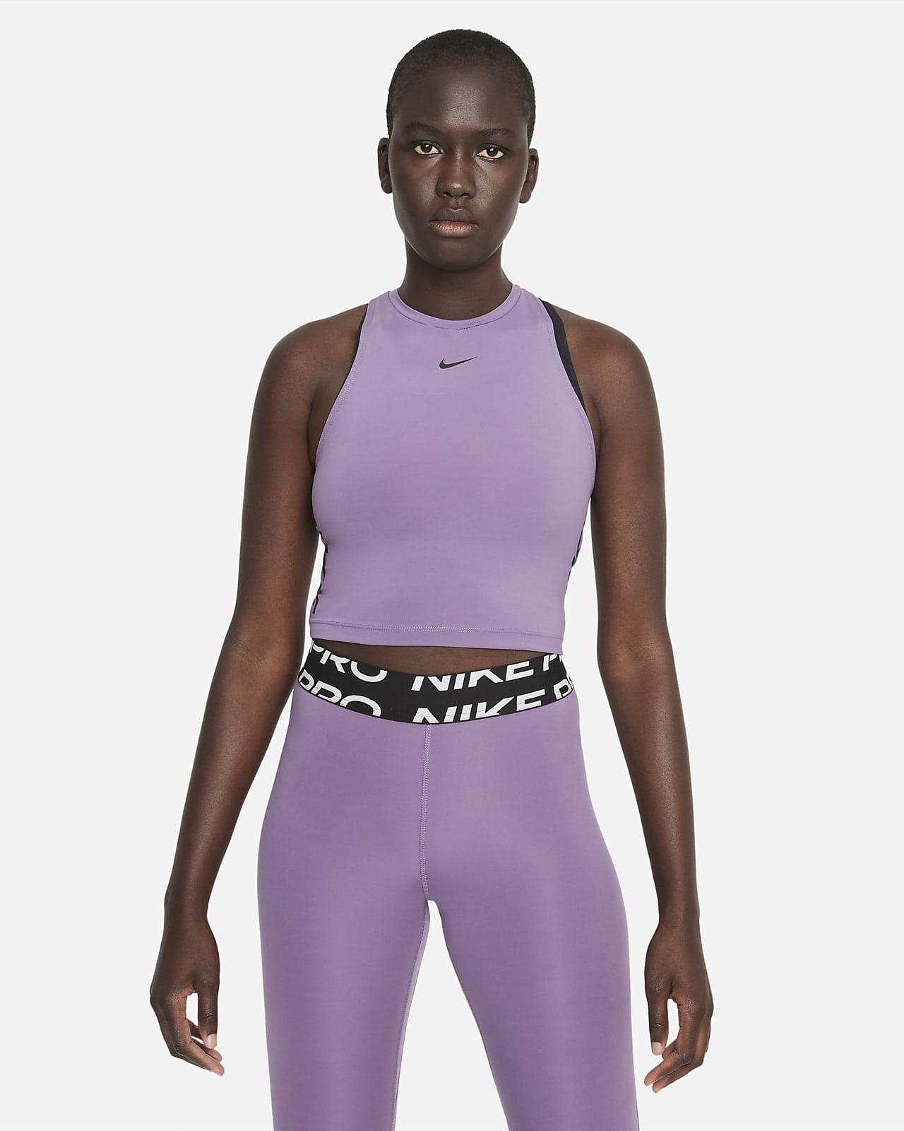 Camiseta de tirantes corta estampada para mujer Nike Pro Dri-FIT