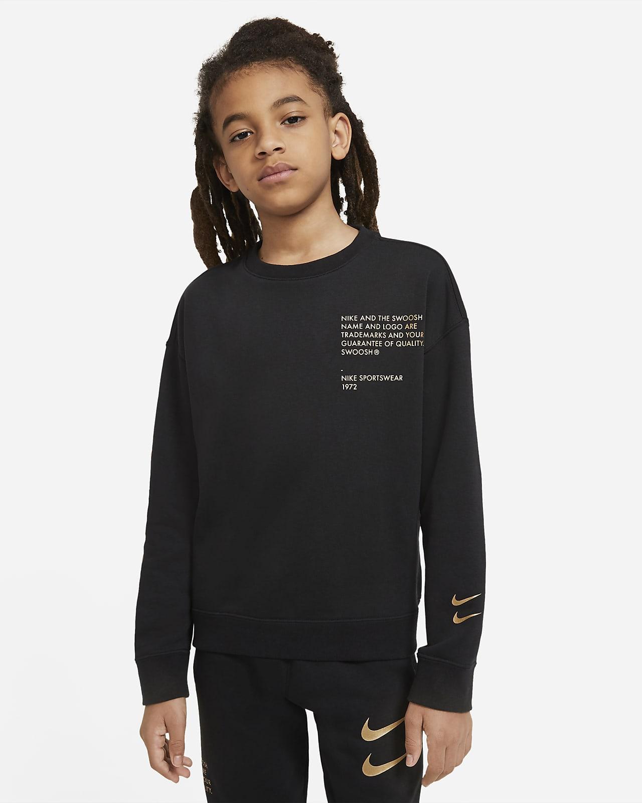 Nike Sportswear Shirt met ronde hals en Swoosh voor jongens