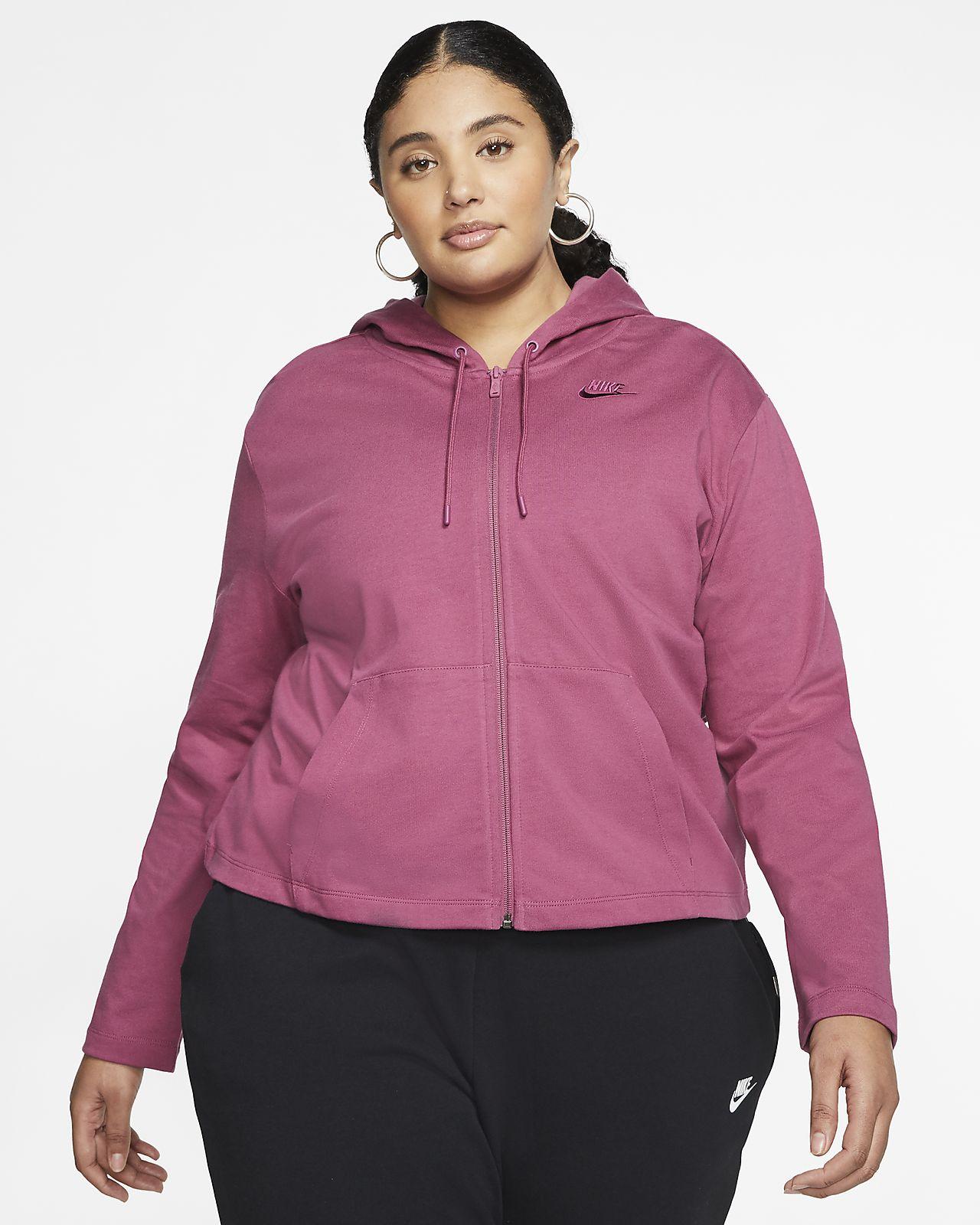Nike Sportswear hettejakke med hel glidelås til dame (Plus Size)
