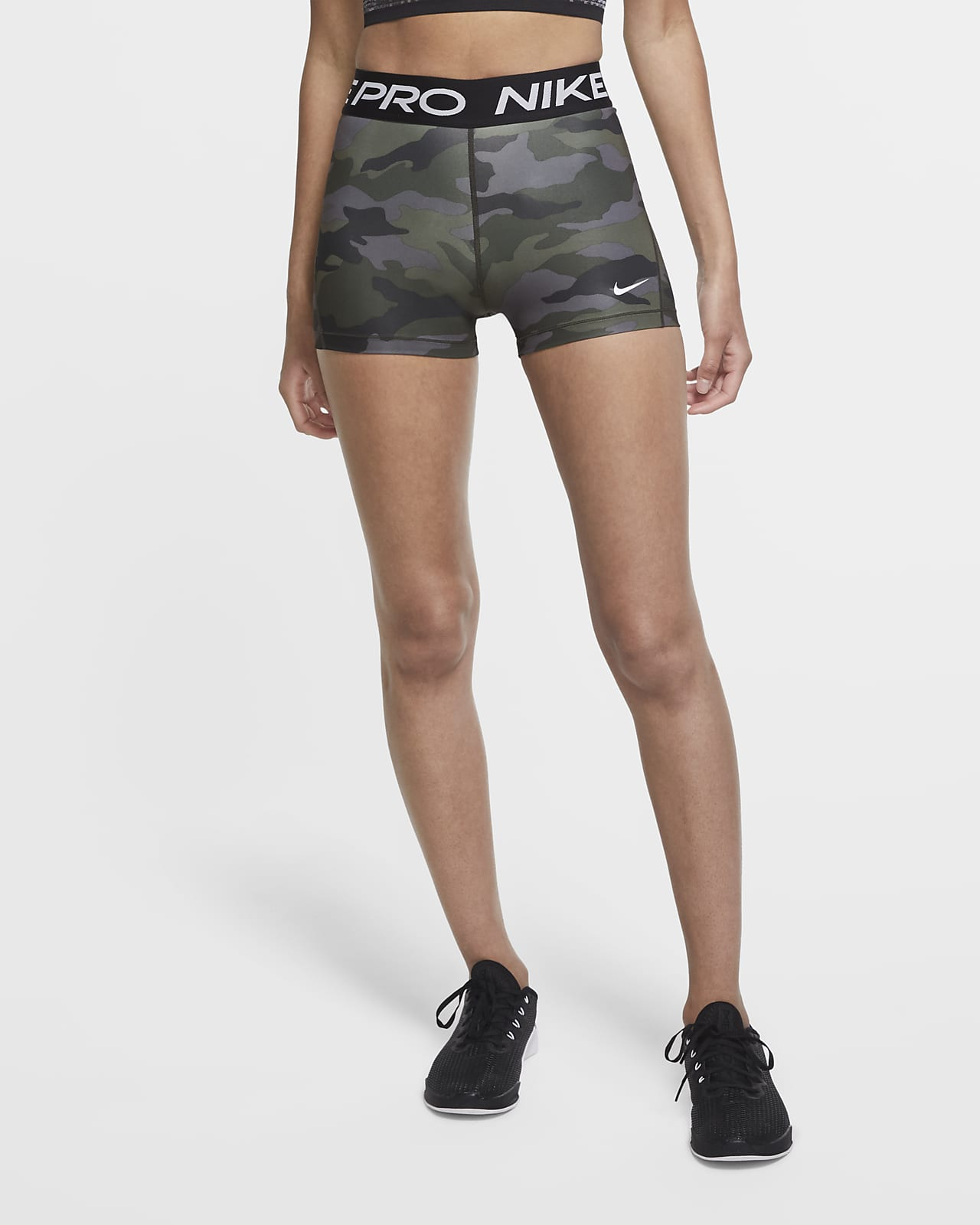 Nike Pro Camo-Shorts für Damen