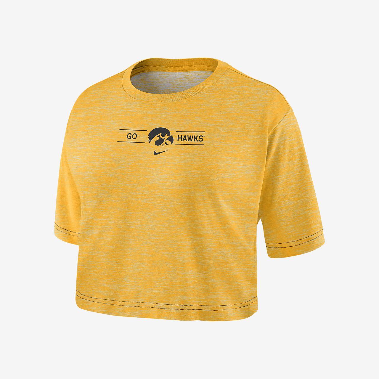 Nike College Dri-FIT (Iowa) Women's Cropped T-Shirt