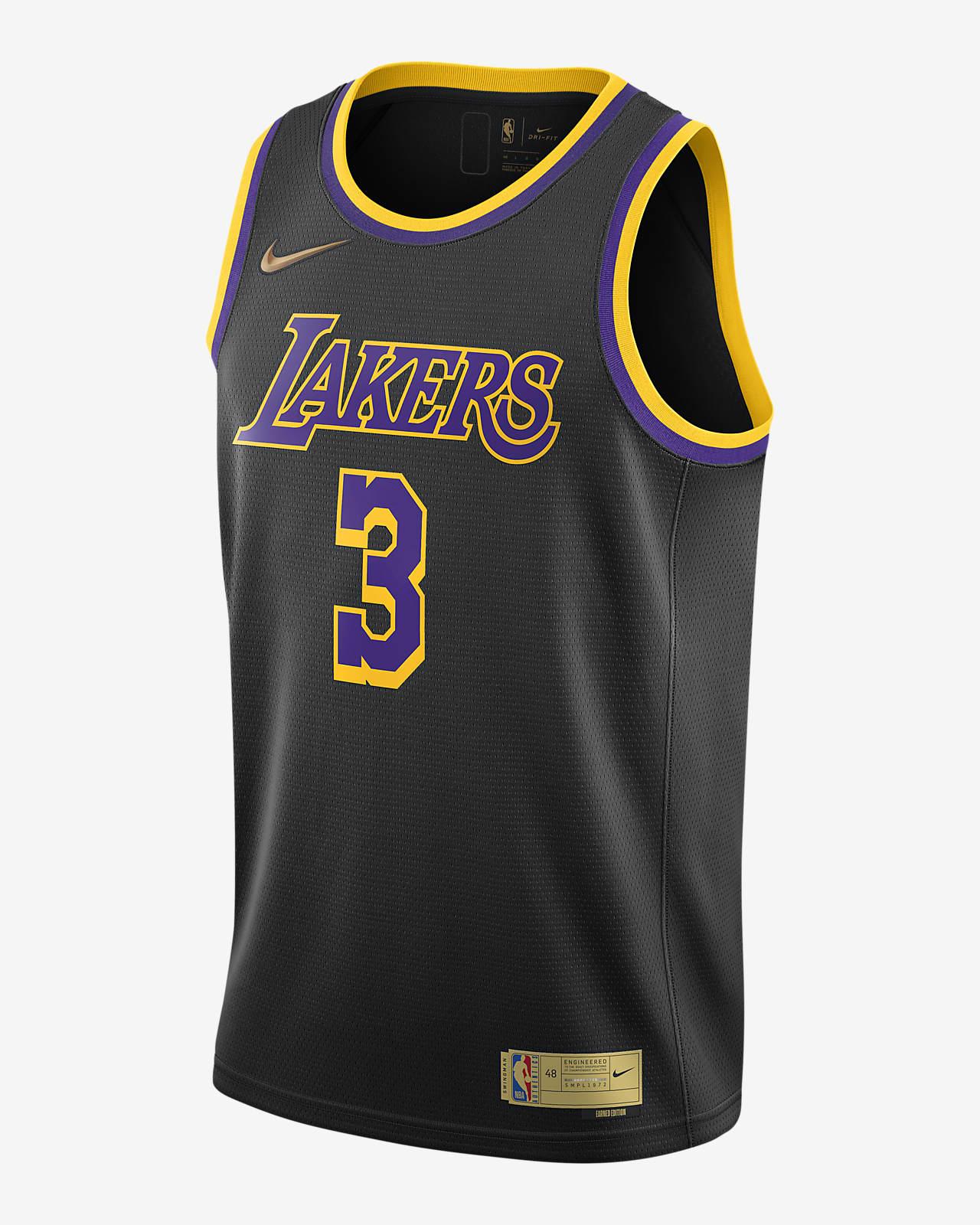 Anthony Davis Lakers Earned Edition Men's Nike NBA Swingman Jersey