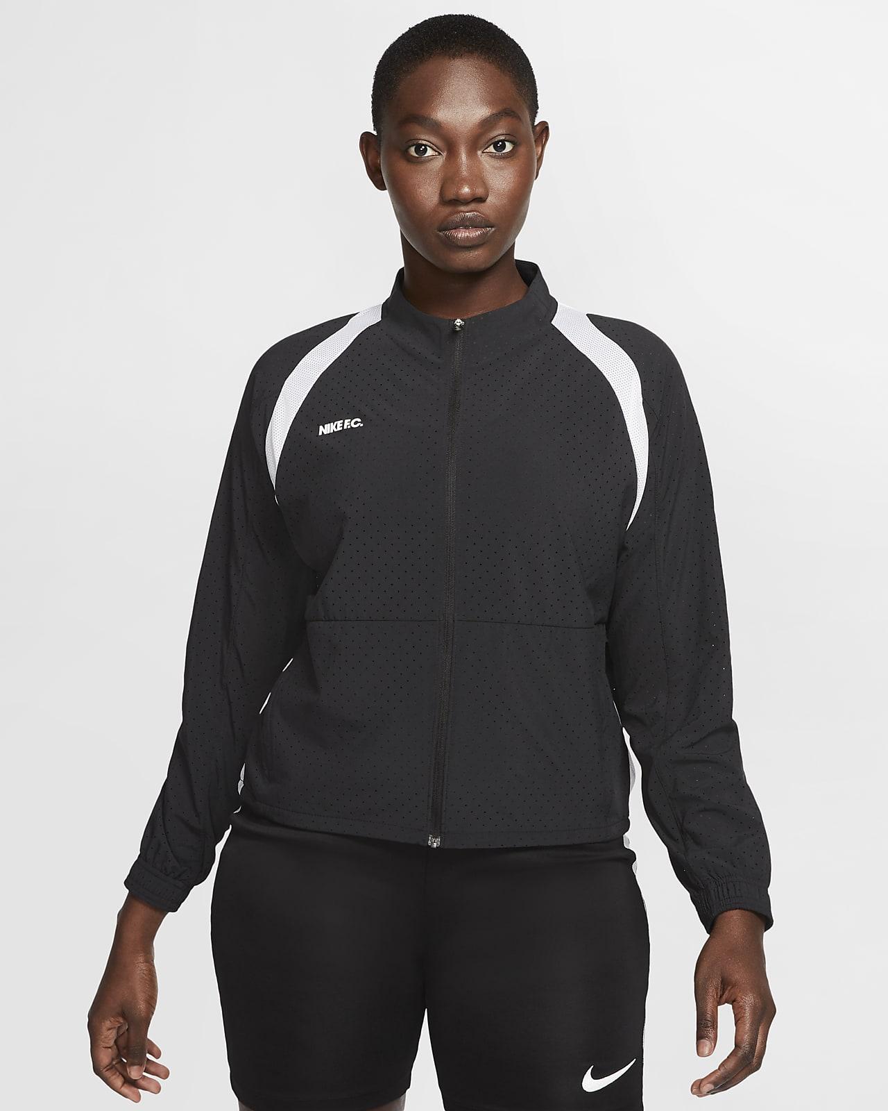 Женская футбольная куртка с молнией во всю длину Nike F.C.