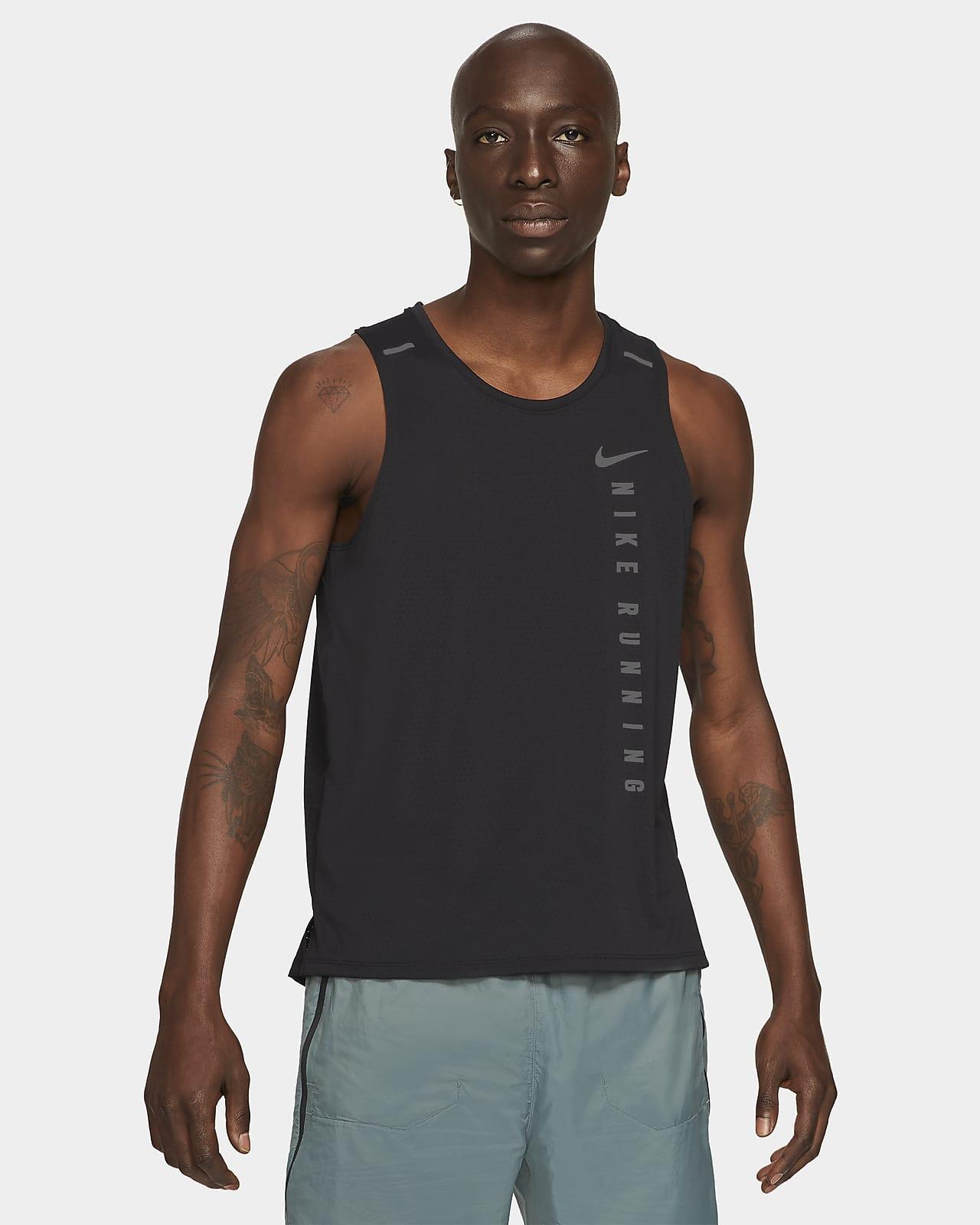 เสื้อกล้ามวิ่งผู้ชายไฮบริด Nike Miler Run Division