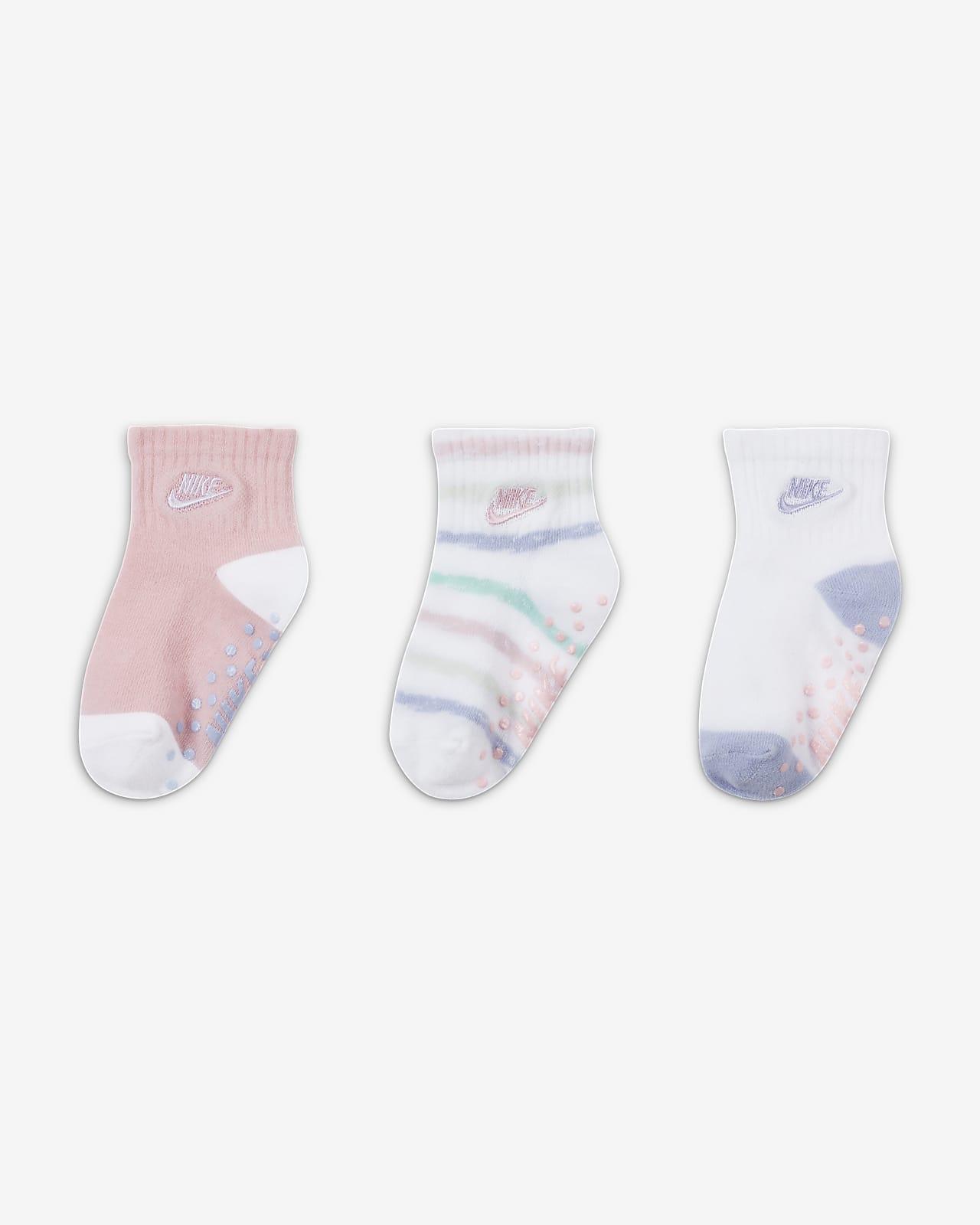 Nike Baby (12-24M) Tie-Dye Gripper Socks (3 Pairs)