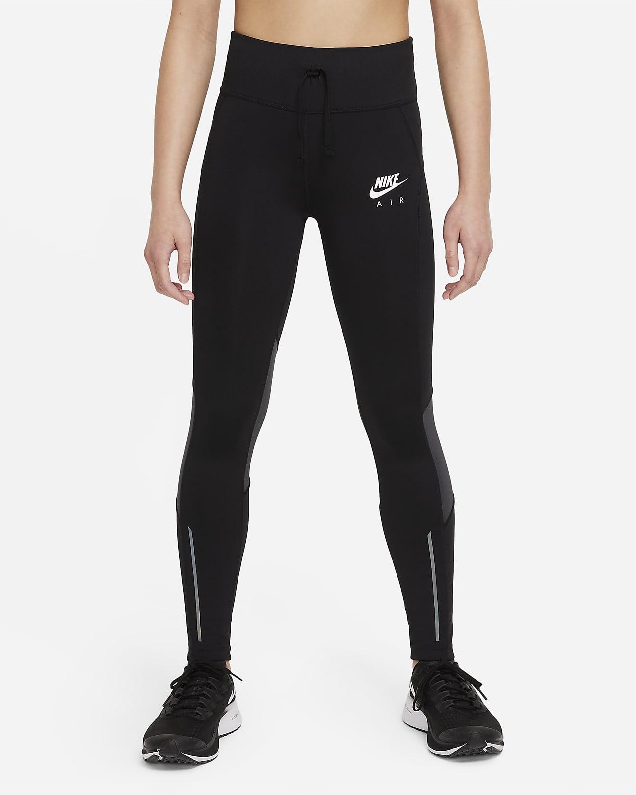 Ψηλόμεσο κολάν για τρέξιμο Nike Air Dri-FIT για μεγάλα κορίτσια