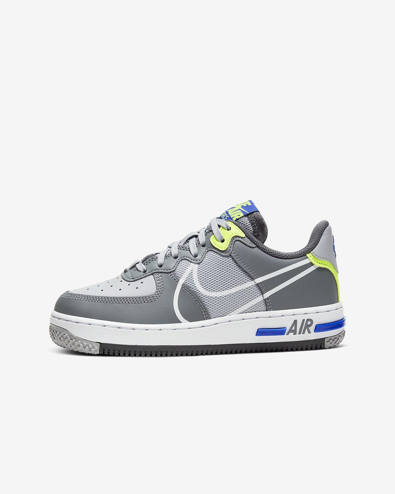Calzado para niños talla grande Nike Air Force 1 React