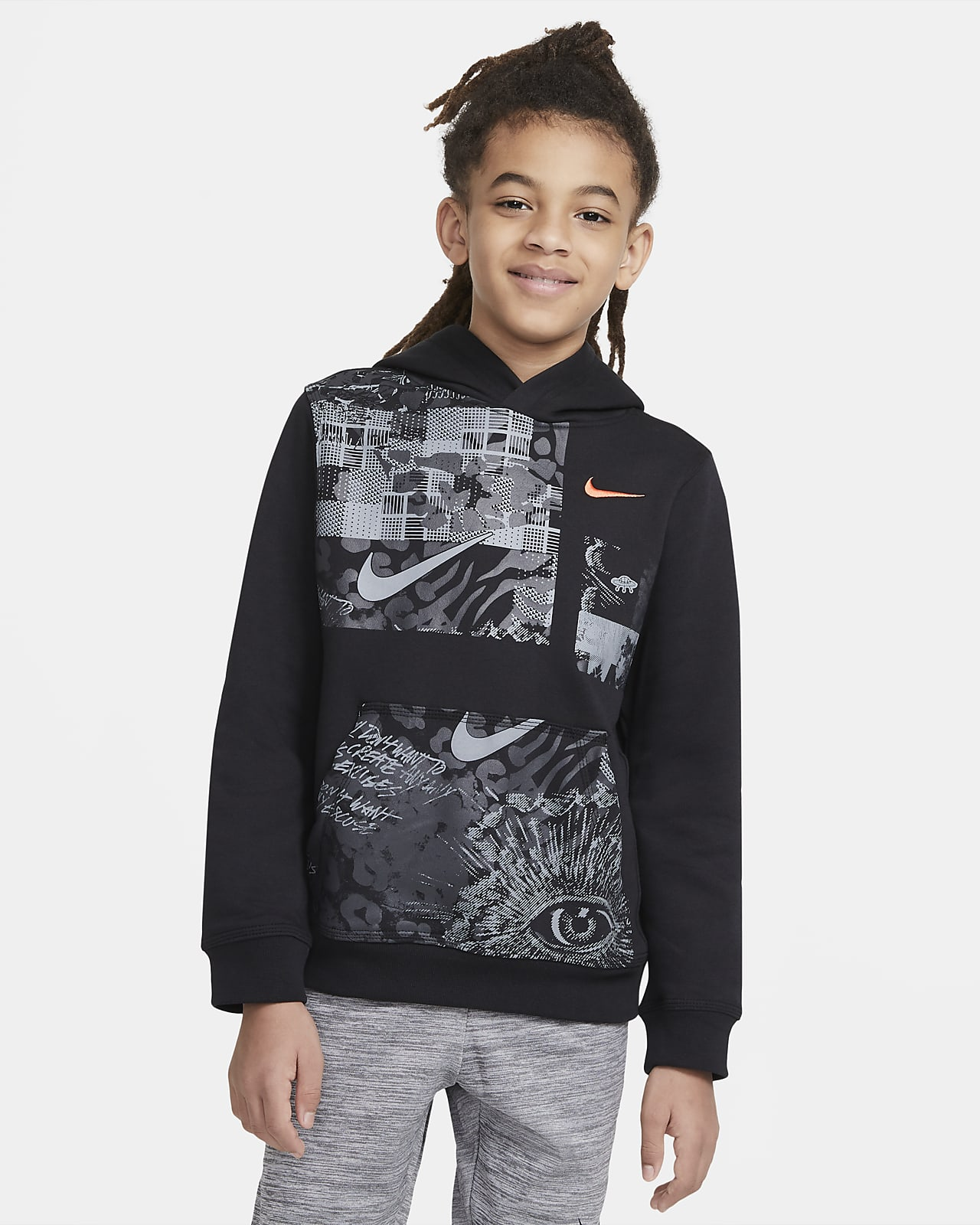 Kyrie Big Kids' (Boys') Club Fleece Pullover Hoodie