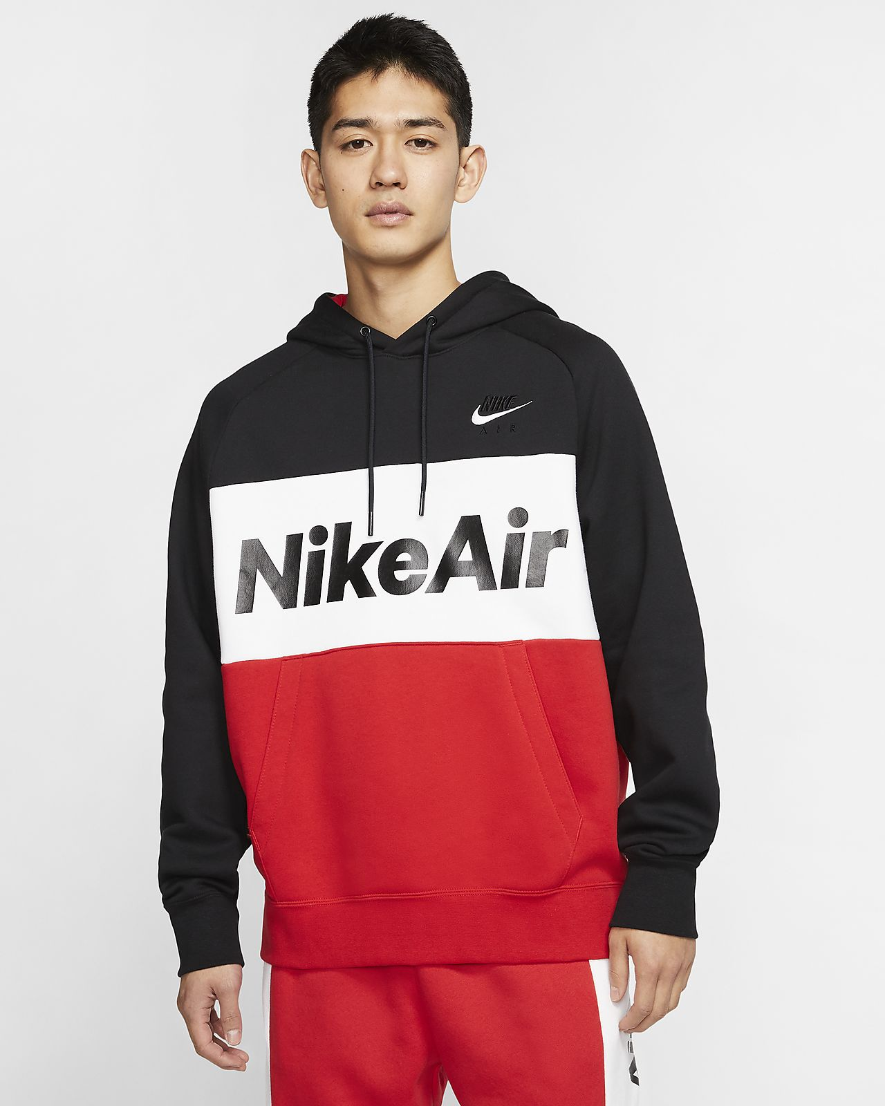 Sudadera con capucha sin cierre de tejido Fleece para hombre Nike Air
