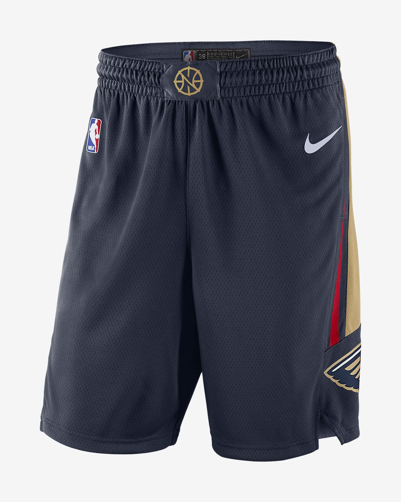 Shorts de la NBA para hombre New Orleans Pelicans Icon Edition Swingman