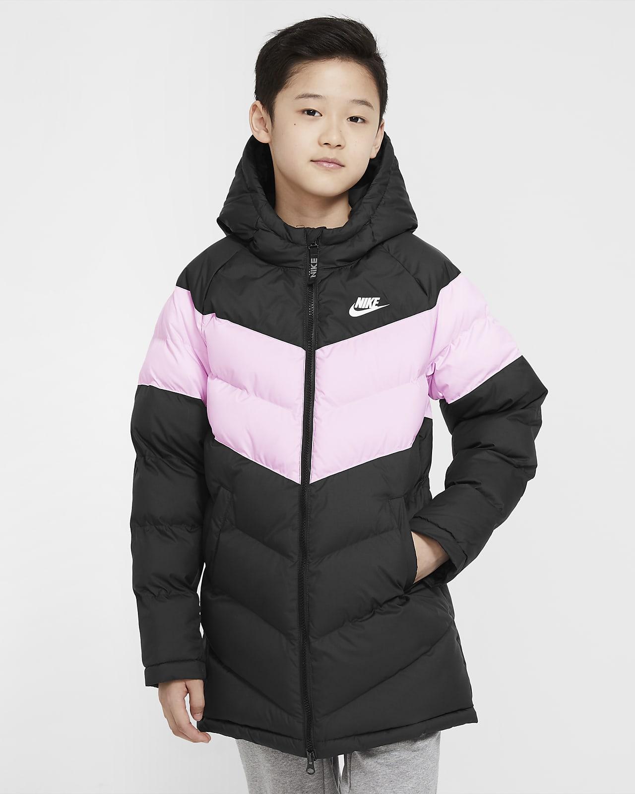 Удлиненная куртка с синтетическим наполнителем для школьников Nike Sportswear