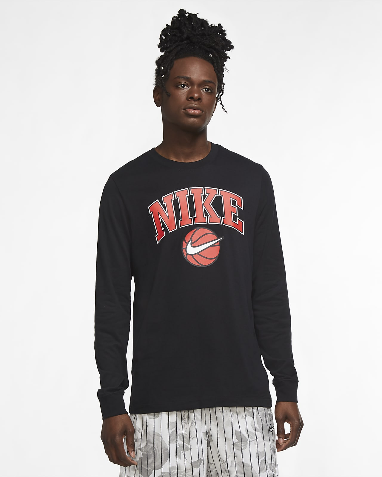 Nike Dri-FIT HBR Men's Basketball Long-Sleeve T-Shirt