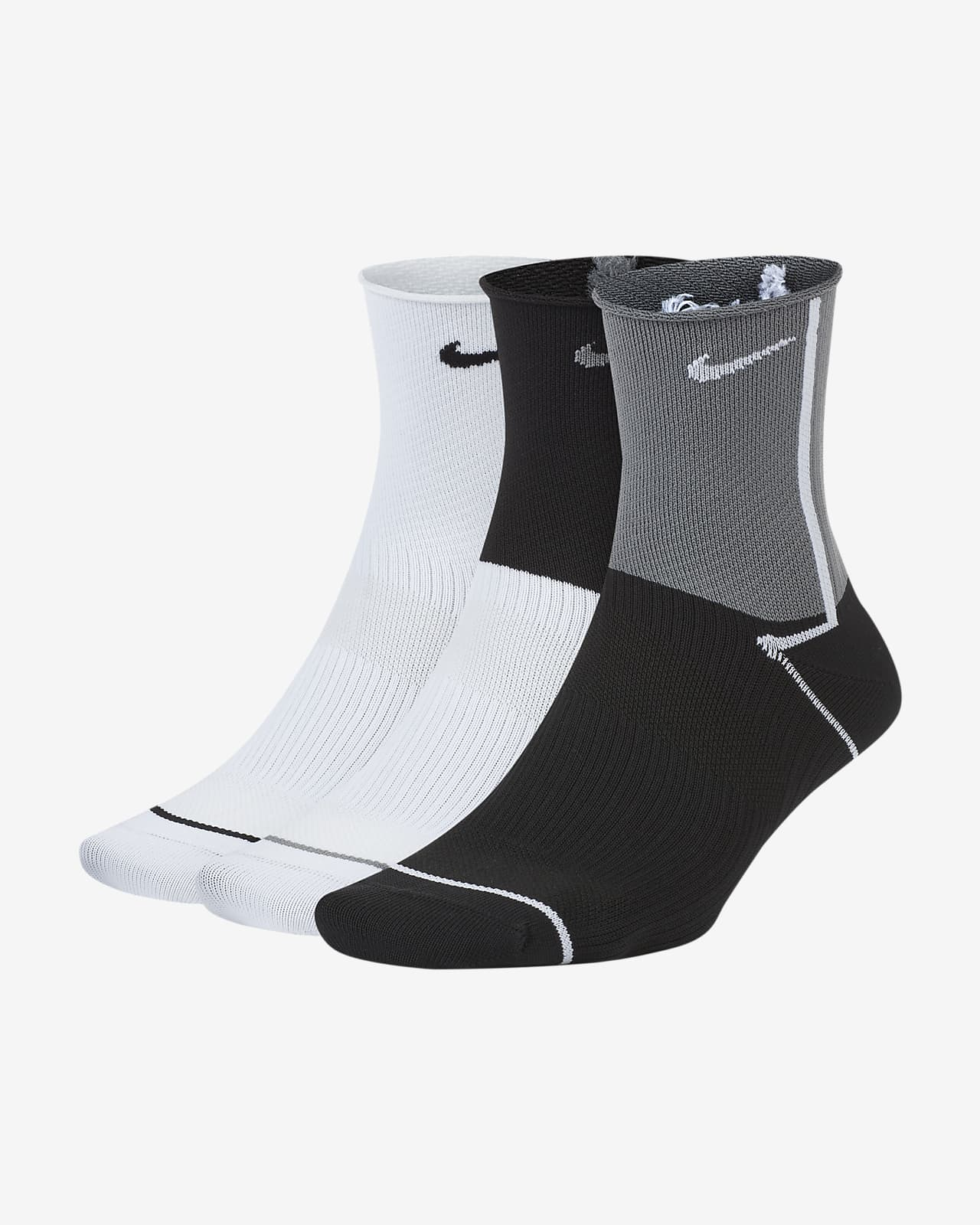 Nike Everyday Plus Lightweight Trainings-Knöchelsocken für Damen (3 Paar)