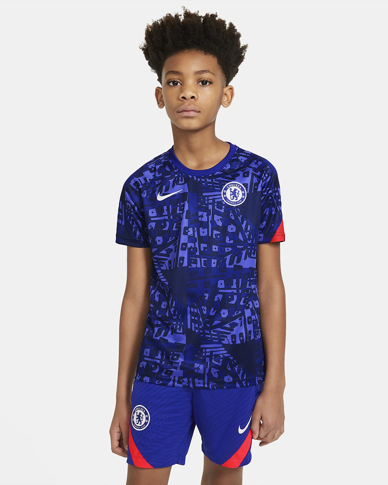Chelsea F.C. Older Kids' Pre-Match Short-Sleeve Football Top