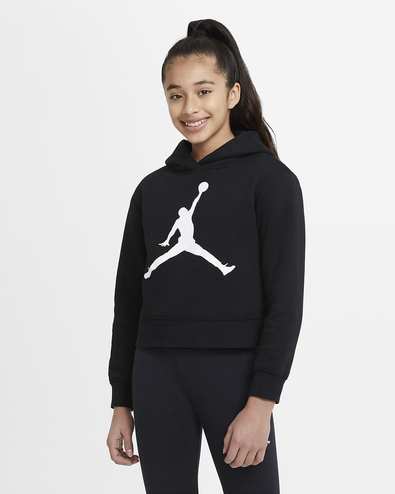 Sudadera con capucha sin cierre para niña talla grande Jordan