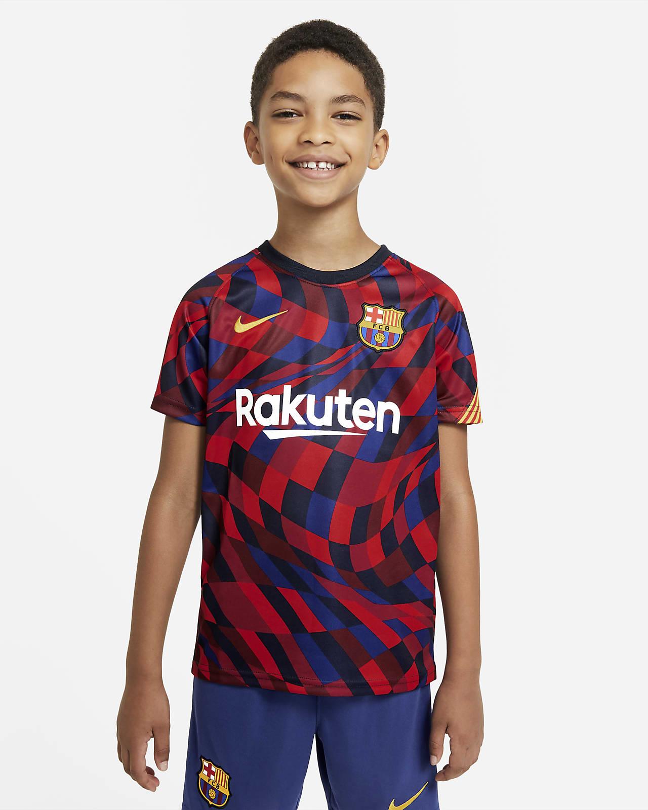 Κοντομάνικη ποδοσφαιρική μπλούζα Μπαρτσελόνα για μεγάλα παιδιά