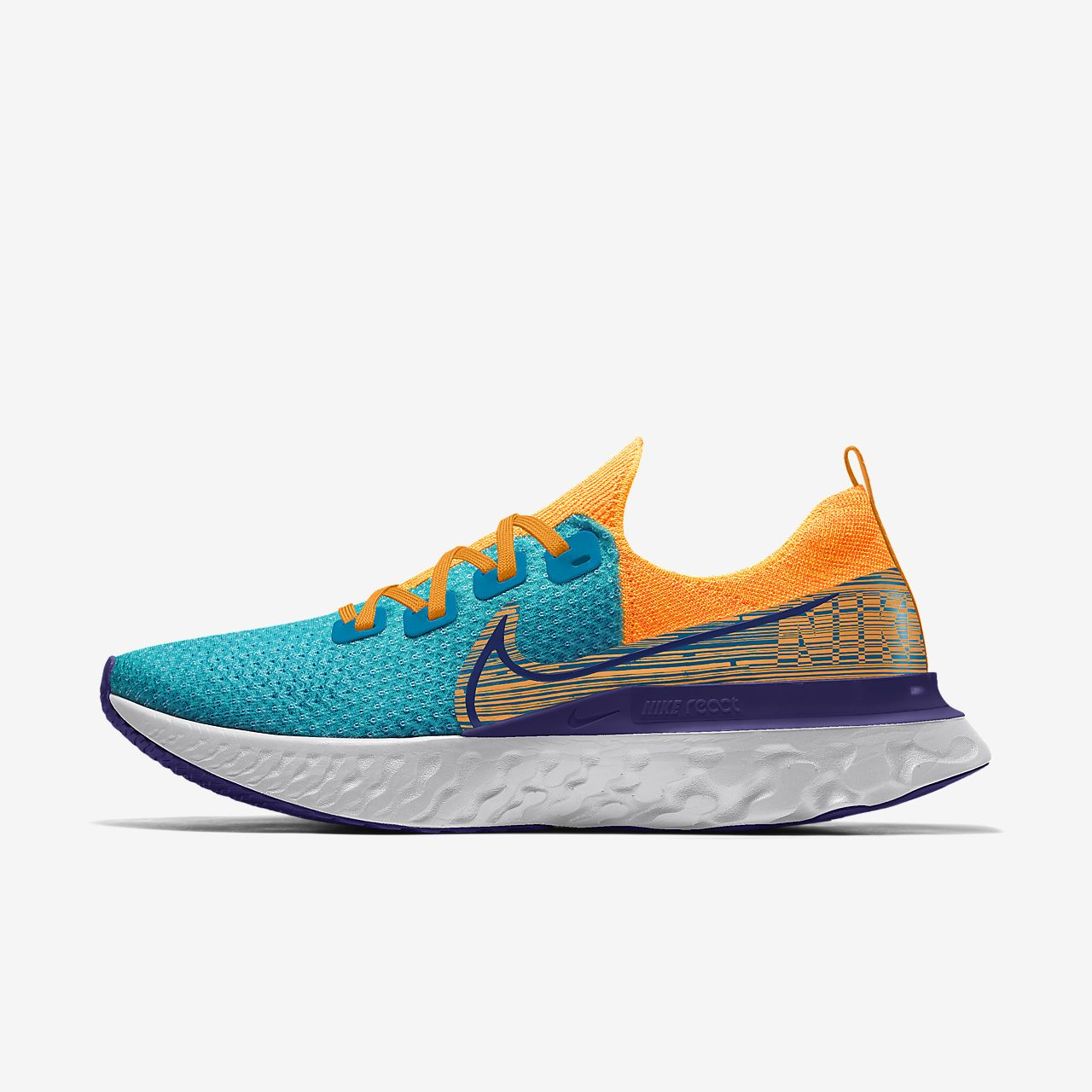 Nike React Infinity Run Flyknit By You 專屬訂製男款跑鞋