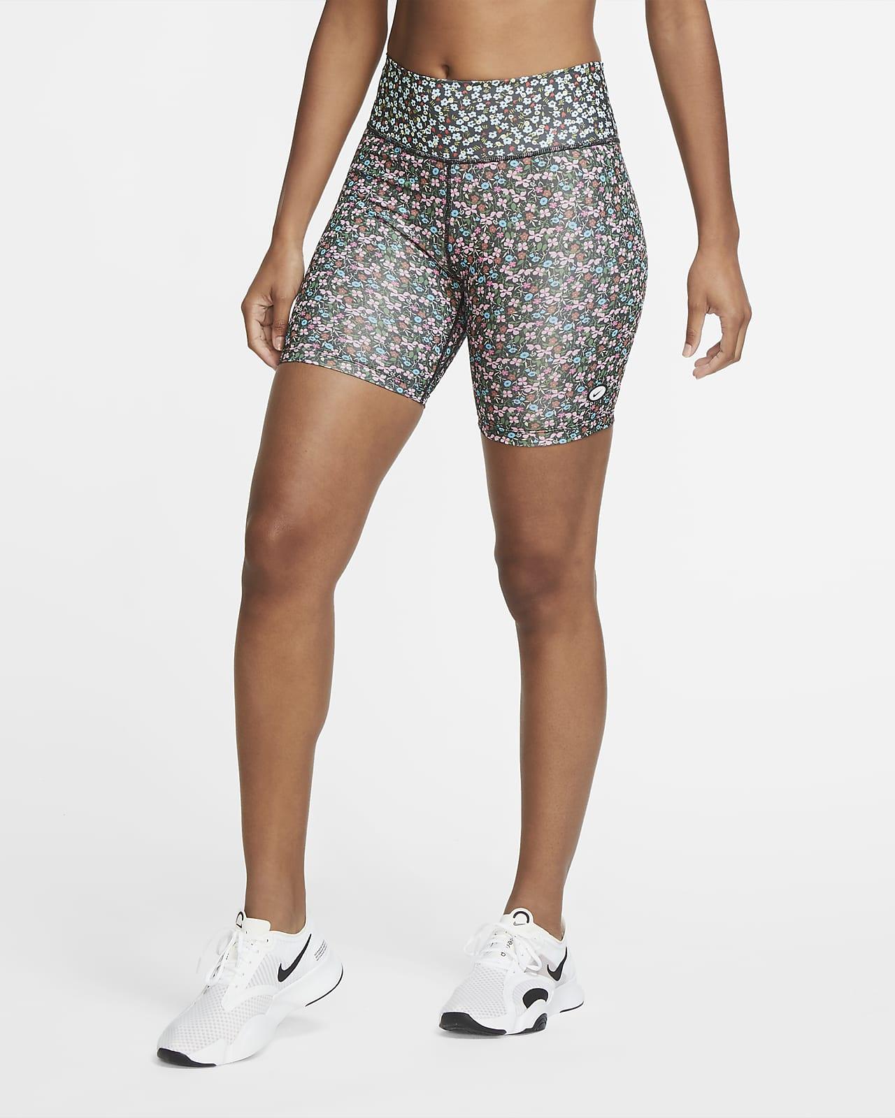 Nike One Bikeshorts mit Print für Damen (ca. 18 cm)