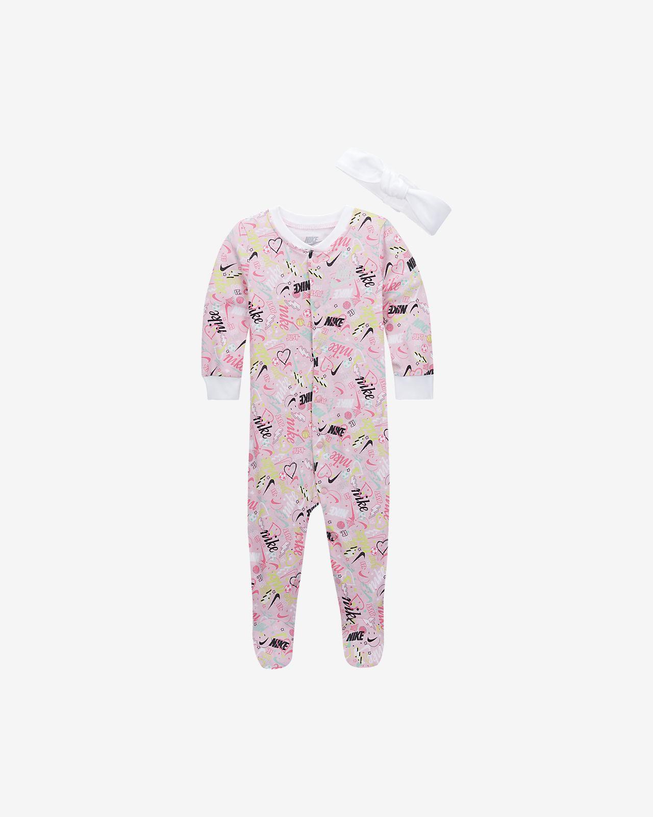 Conjunto de mono y cinta para el pelo para bebé (de 0 a 9 meses) Nike