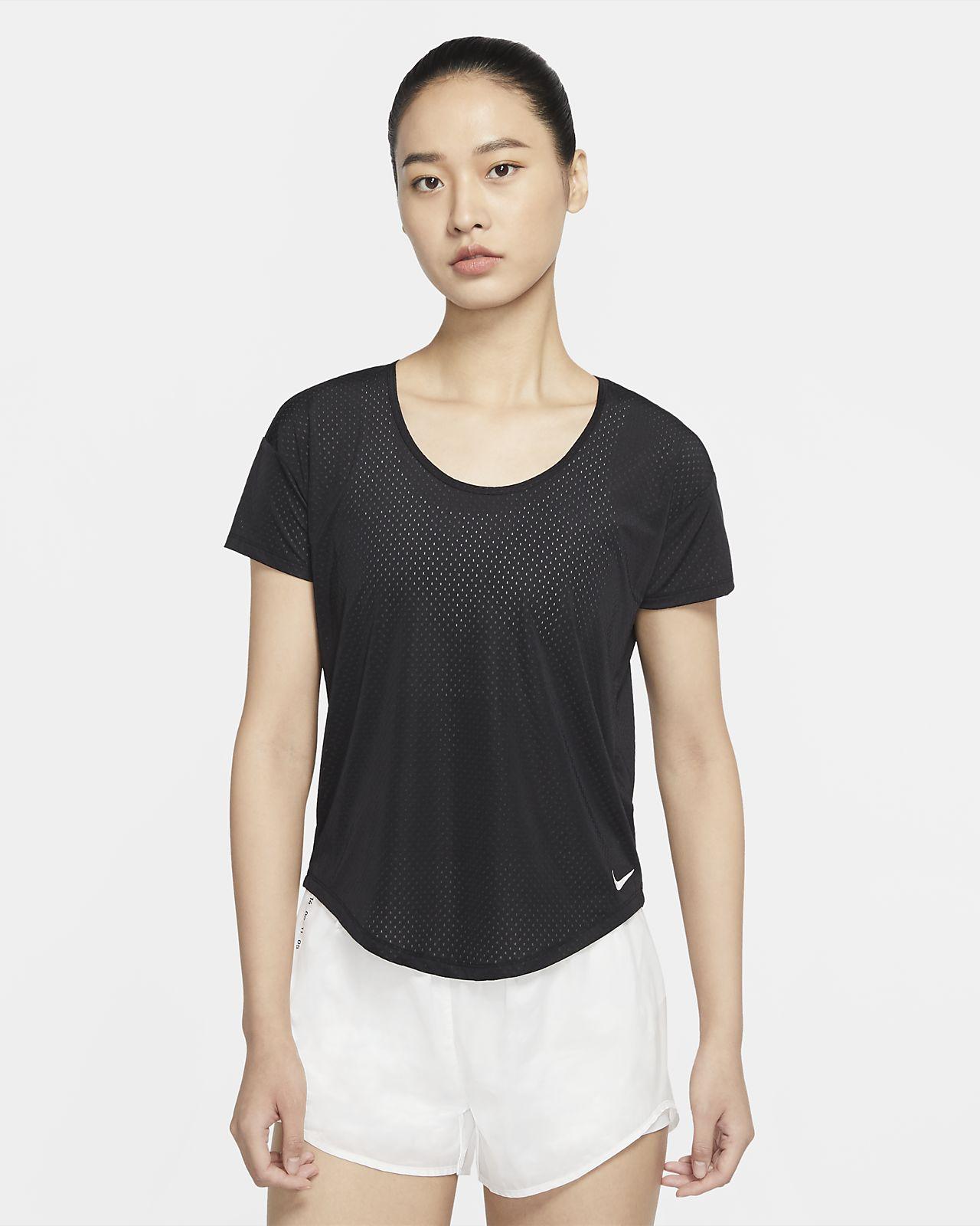 Nike Breathe 女子短袖跑步上衣