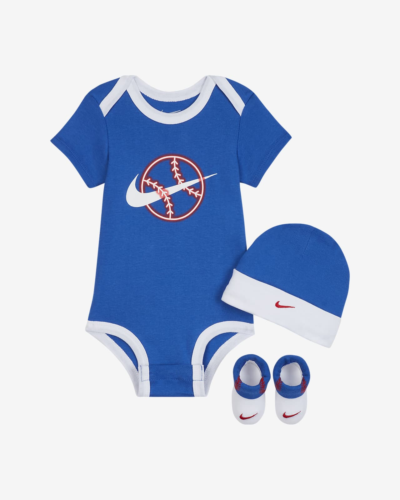 Nike Baby (6-12M) Bodysuit, Hat and Booties Set