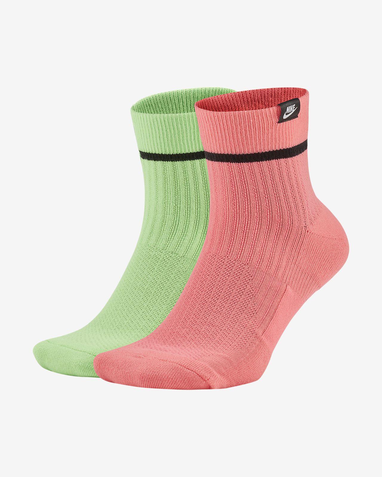 Nike SNEAKR Sox Calcetines hasta el tobillo (2 pares)