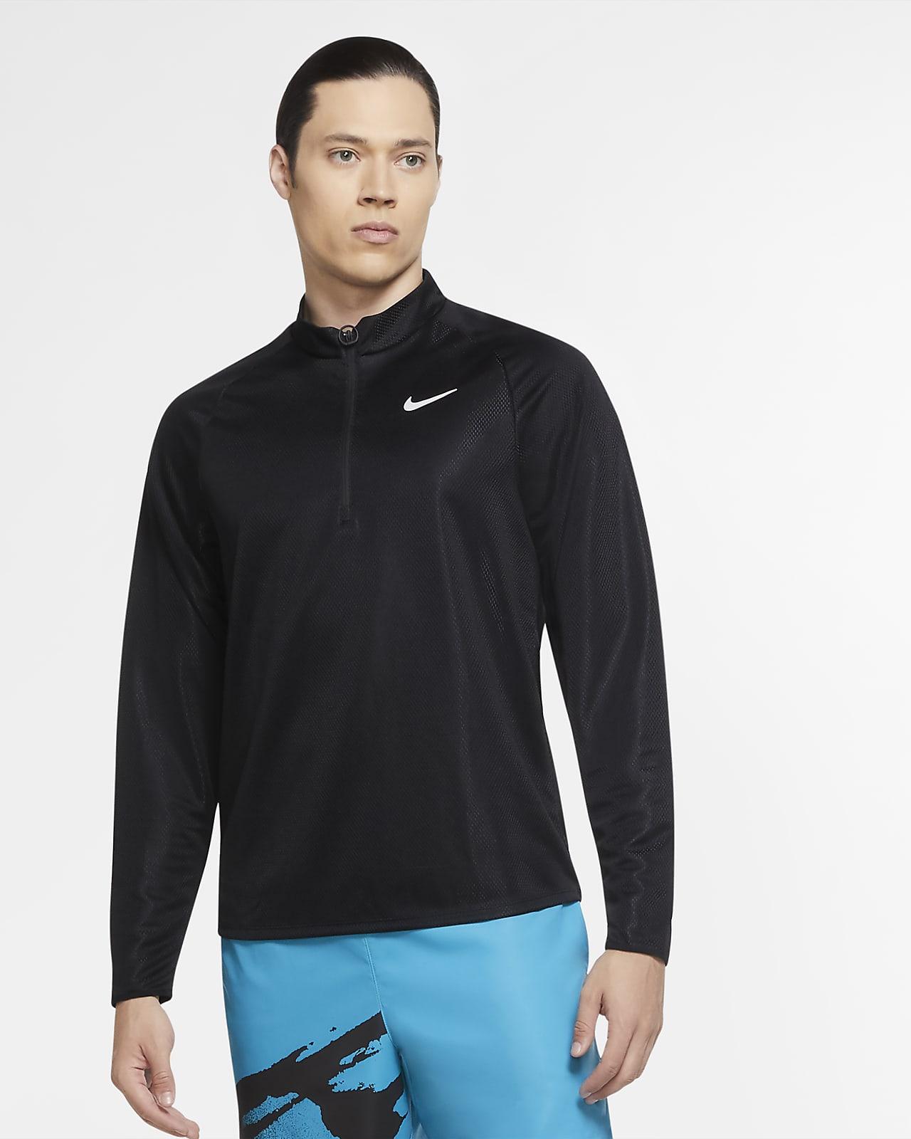 Haut de tennis à manches longues et demi-zip NikeCourt Challenger pour Homme