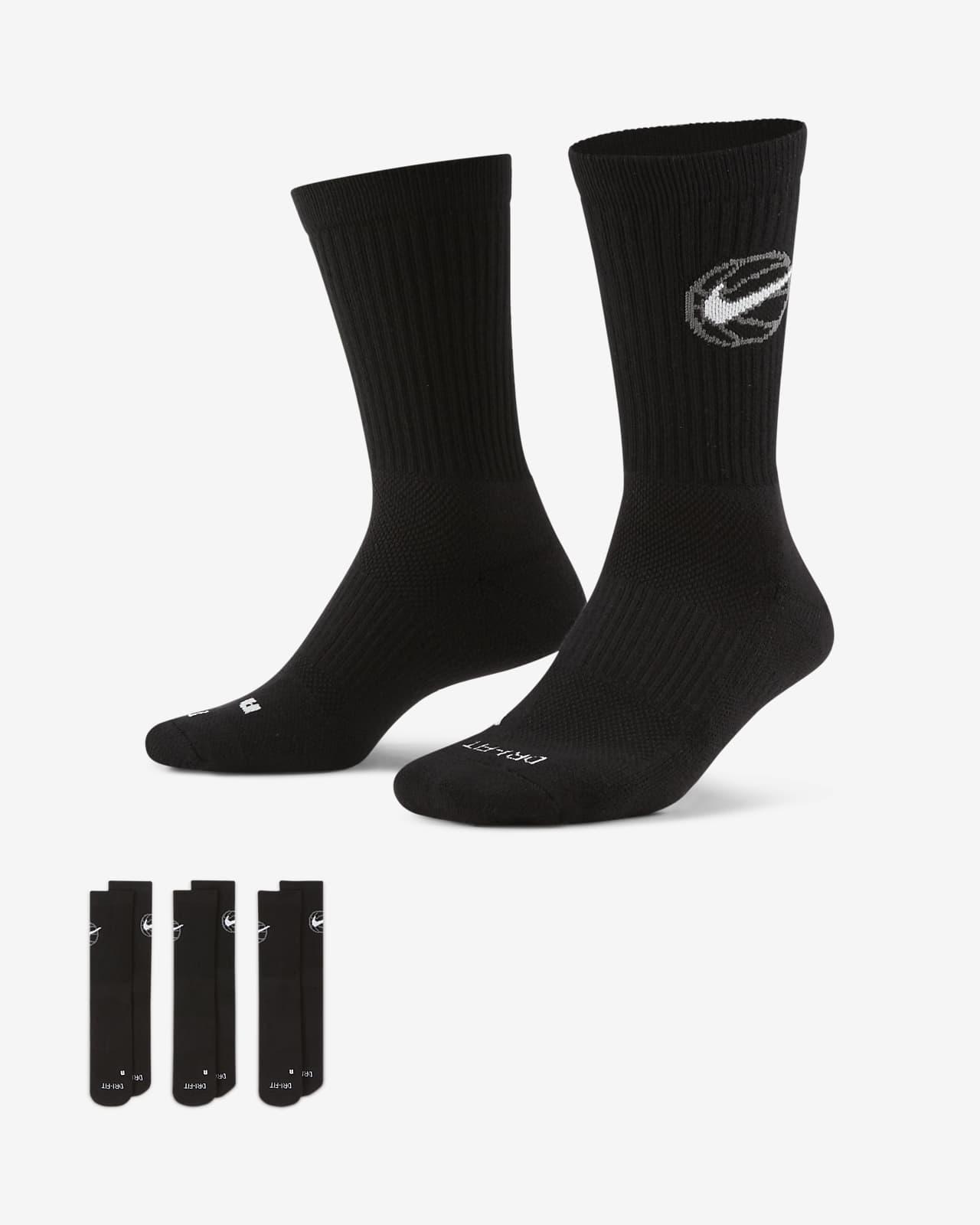 ถุงเท้าบาสเก็ตบอล Nike Everyday Crew (3 คู่)