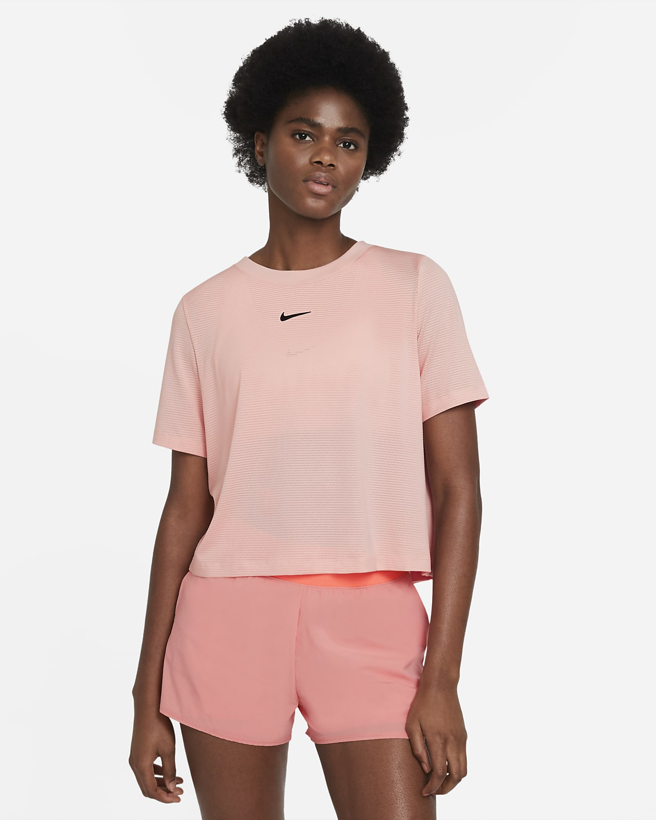 NikeCourt Advantage kortermet tennisoverdel til dame
