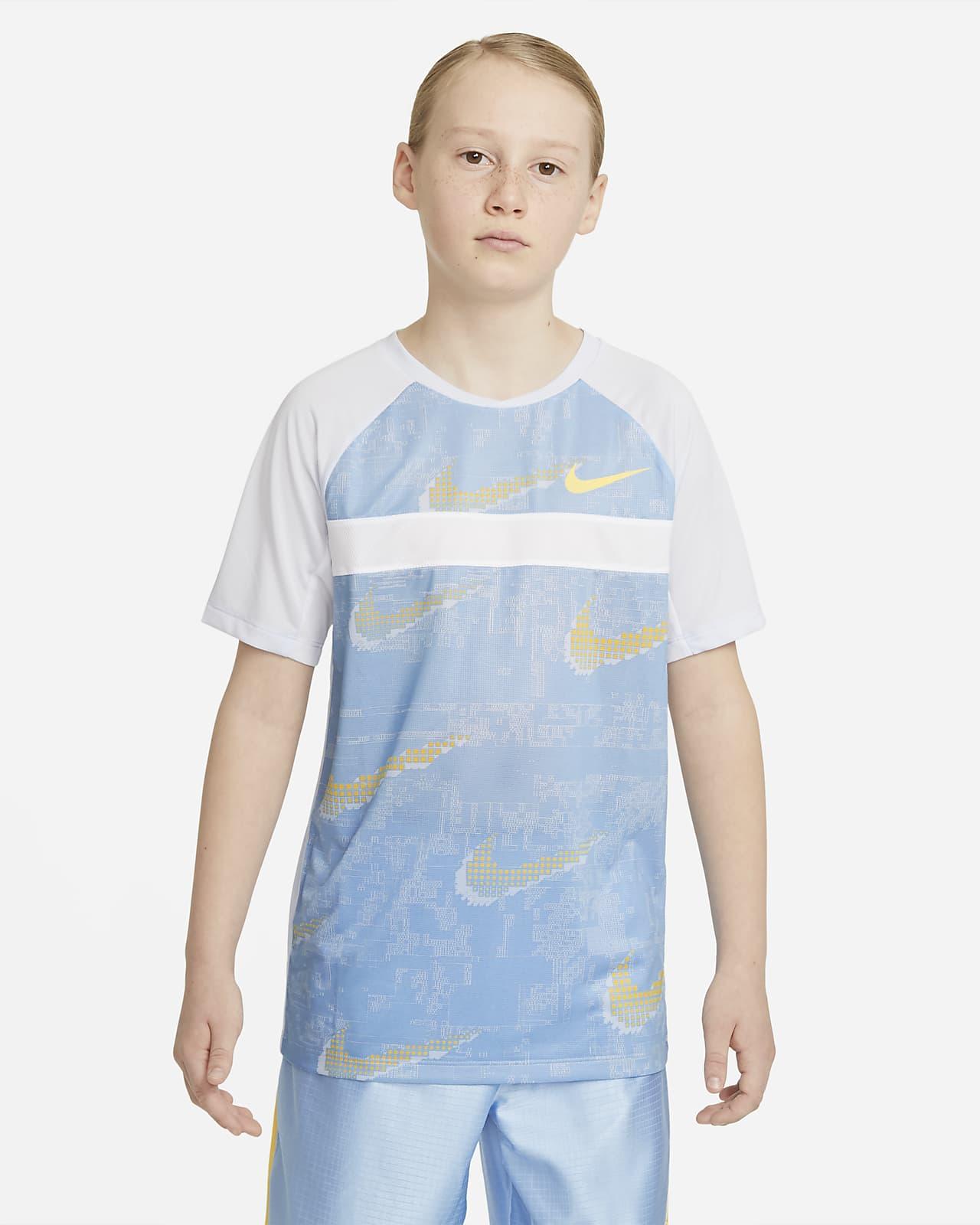 Prenda para la parte superior de entrenamiento estampada de manga corta para niño talla grande Nike Dominate