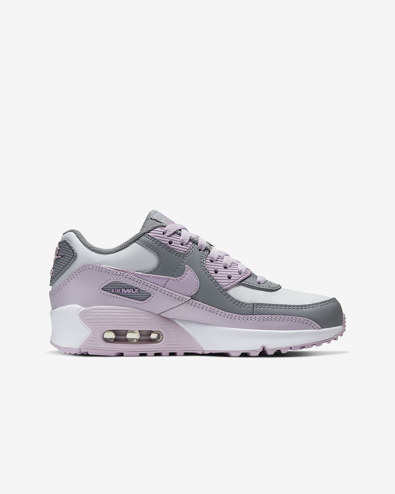 Nike Boys Air Max 90 LTR gs Running Shoes White White