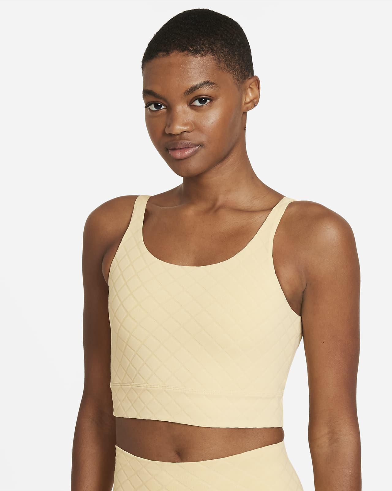 Kort Jacquard-linne Nike Yoga Luxe för kvinnor
