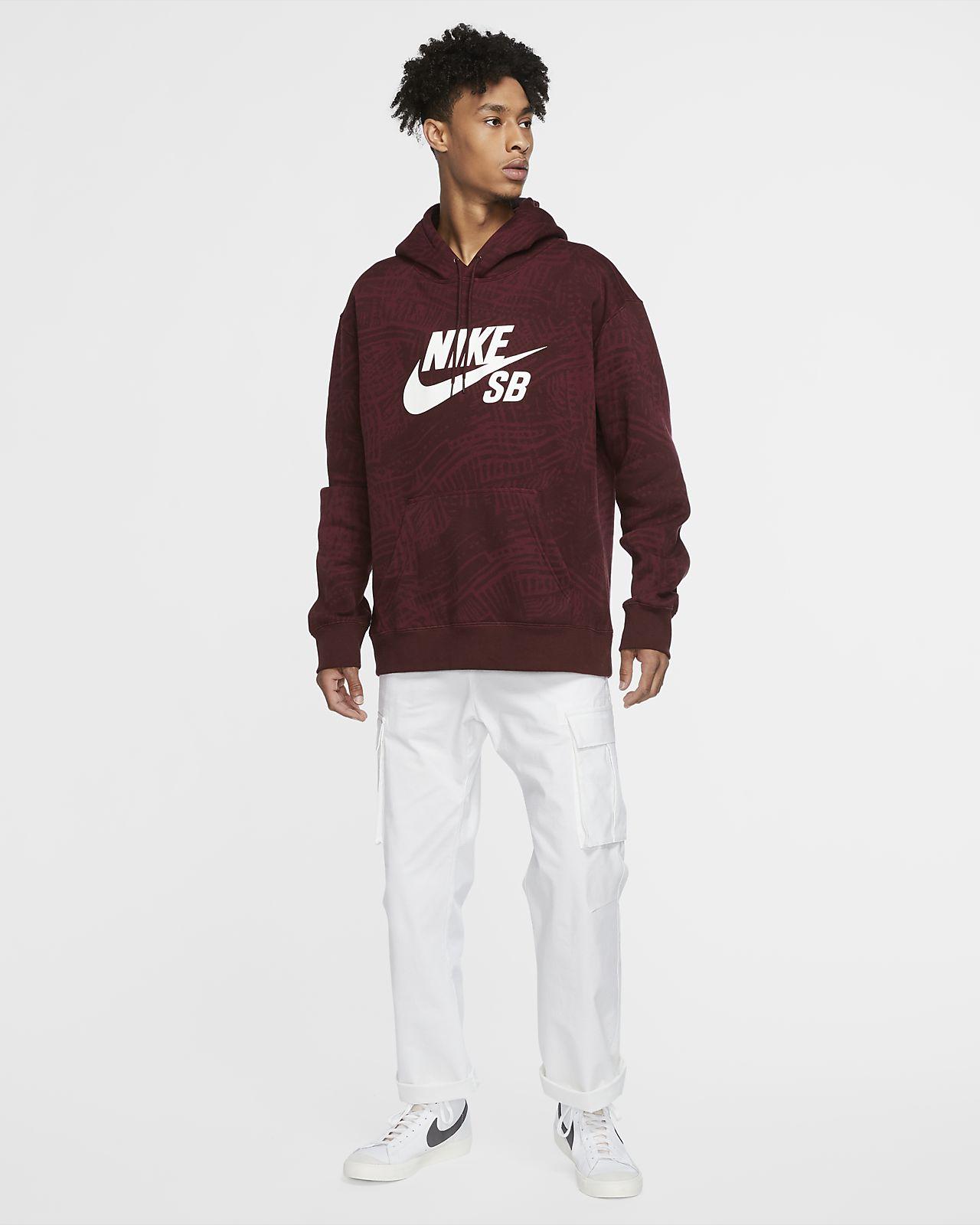 Nike SB Men's Printed Skate Hoodie. Nike GB