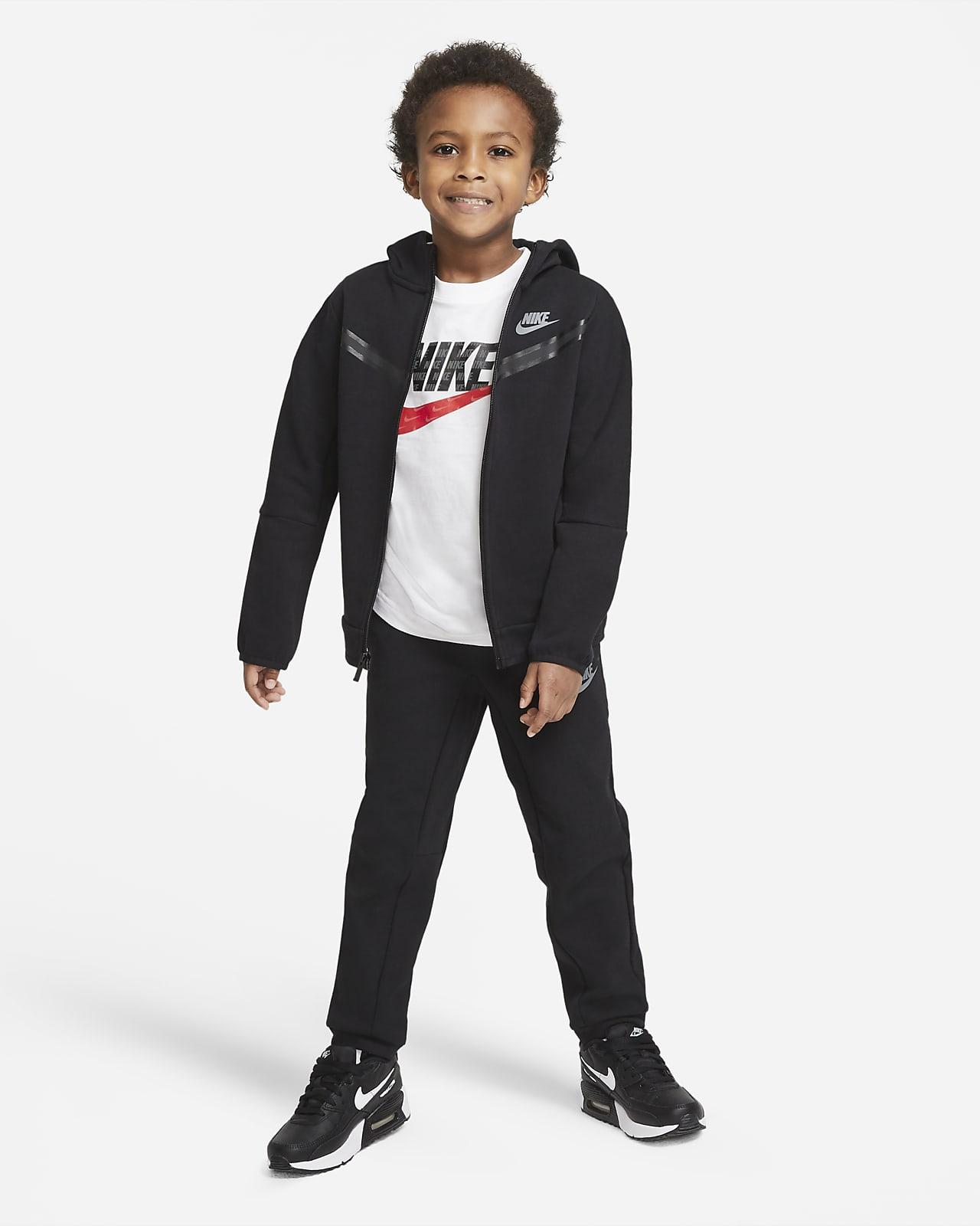 Conjunto de pantalones y chamarra para niños talla pequeña Nike Sportswear Tech Fleece