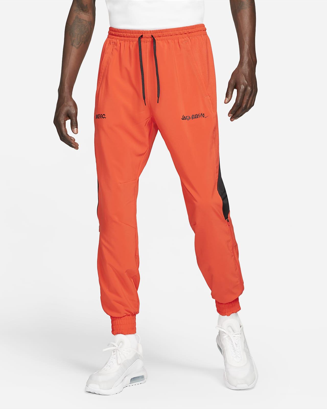 Calças de treino de futebol entrançadas Nike F.C. para homem