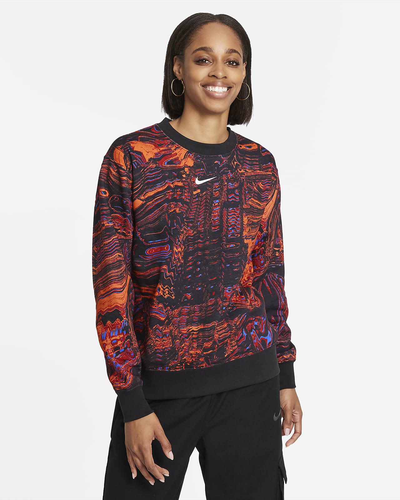Nike Sportswear Danstop van fleece met ronde hals voor dames