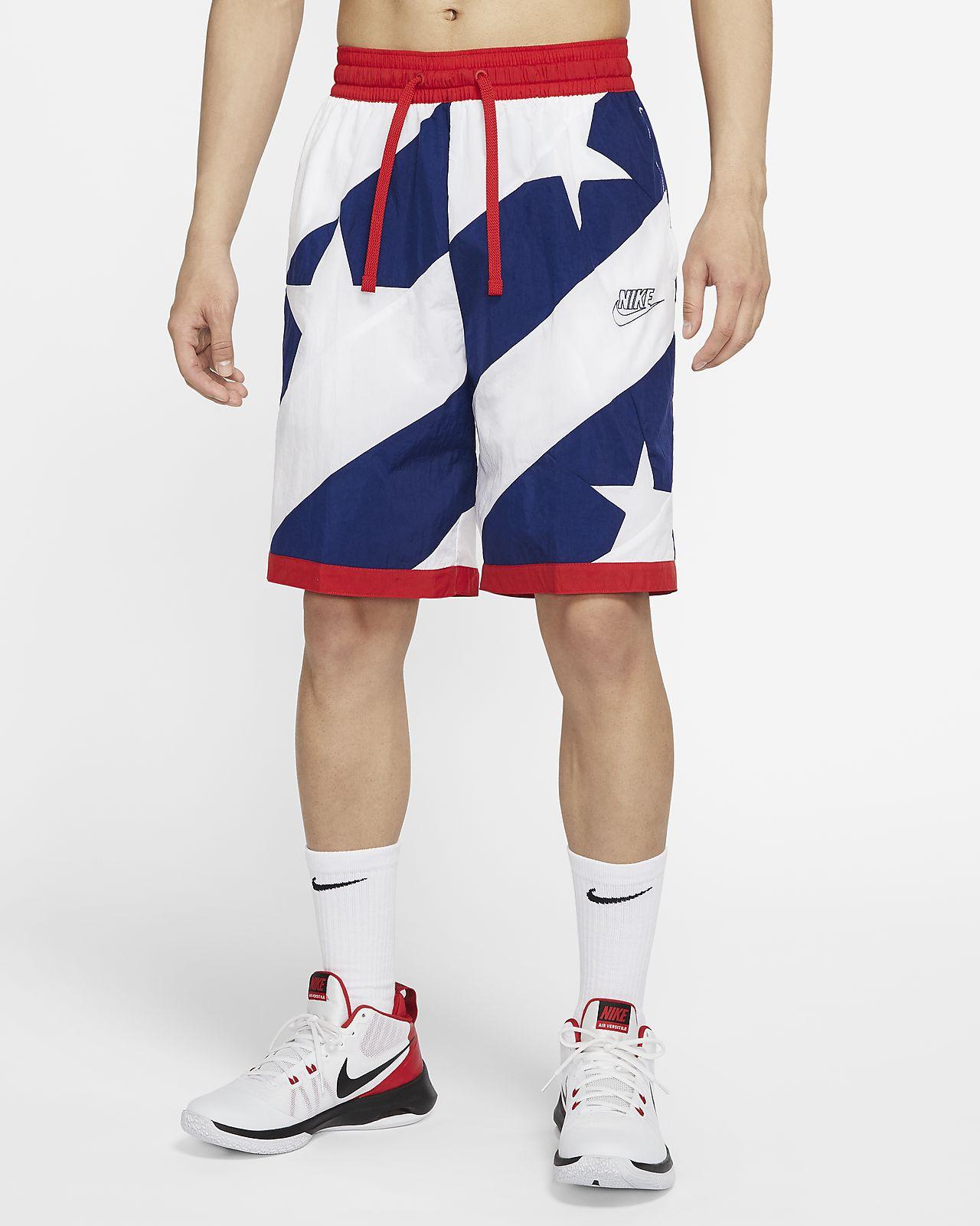 กางเกงบาสเก็ตบอลขาสั้นผู้ชาย Nike Dri-FIT Throwback