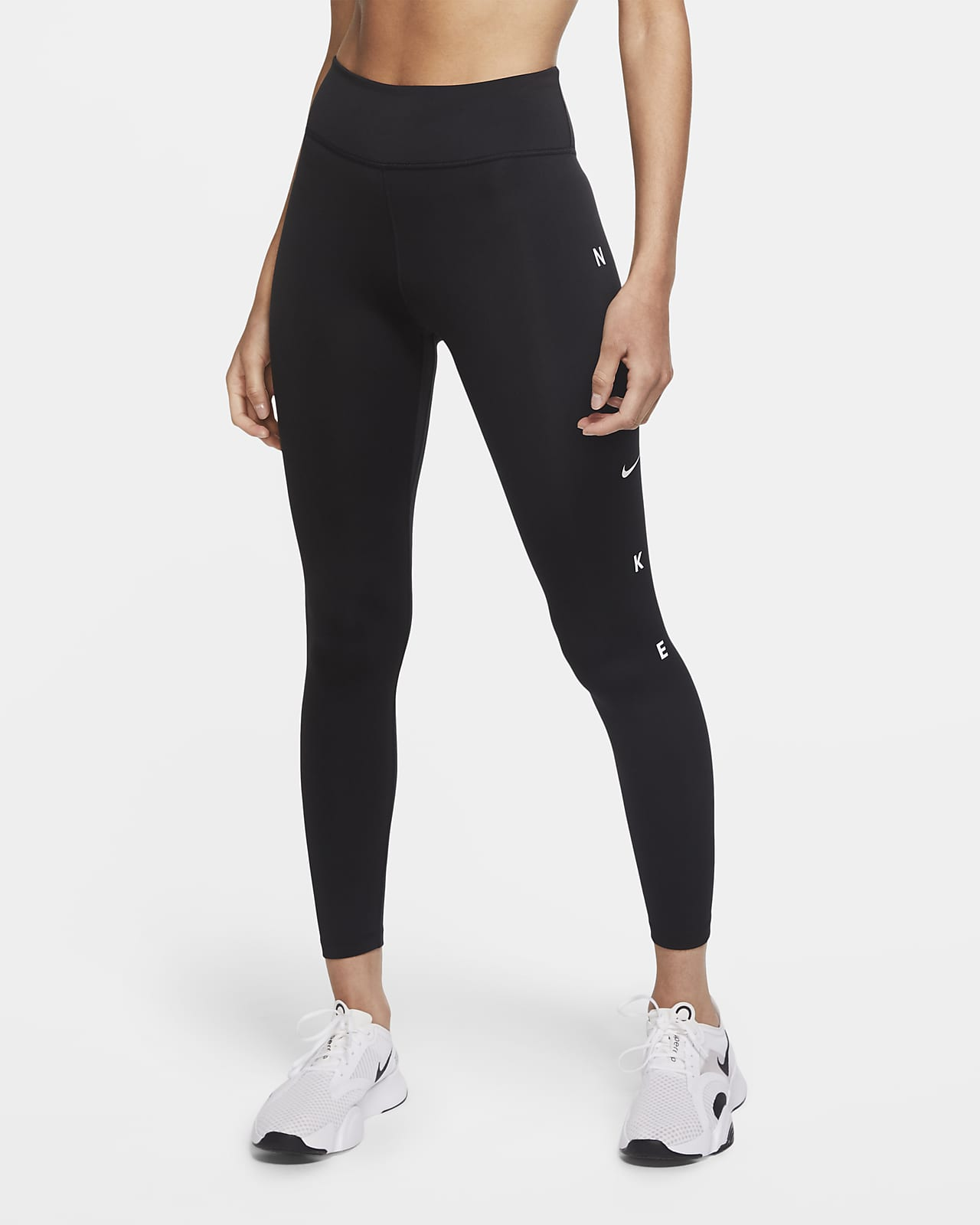 Nike One 7/8-Tights mit Grafik für Damen