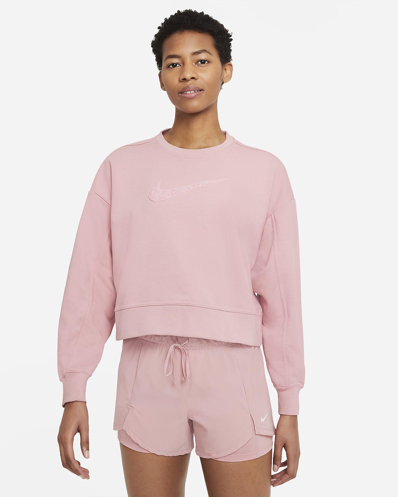 Nike Dri-FIT Get Fit Trainingsshirt met ronde hals en Swoosh voor dames