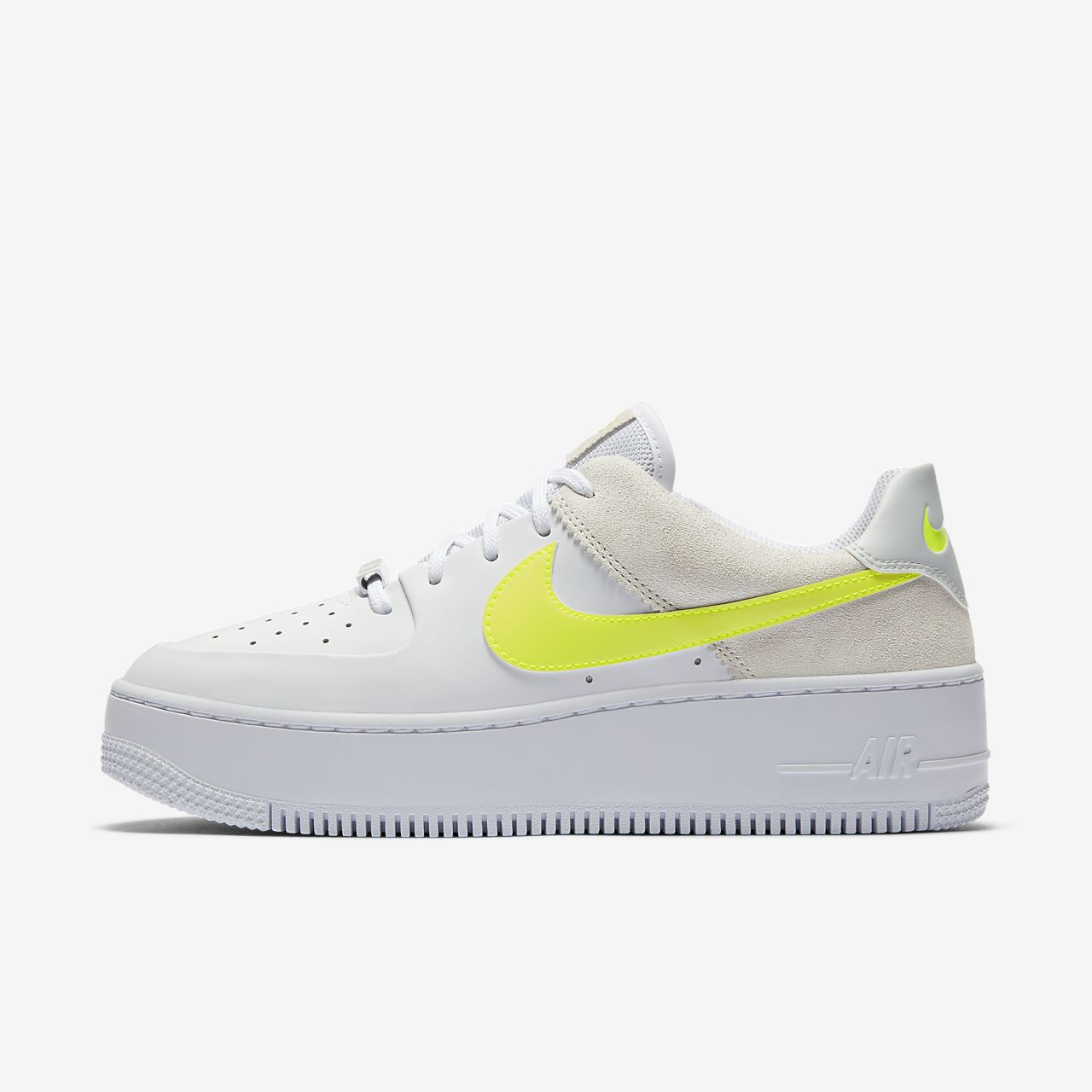 air force one jaune pastel femme