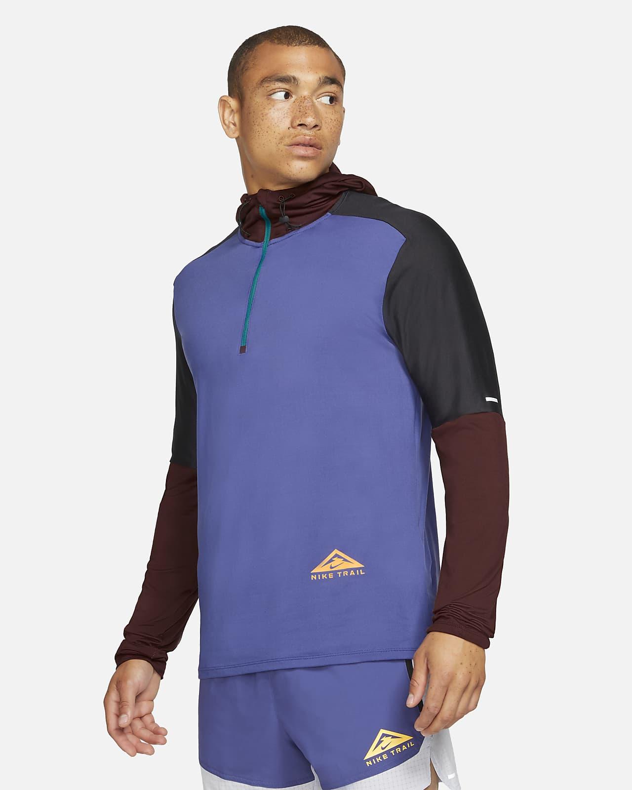 Nike Dri-FIT Trail rövid cipzáras férfifelső terepfutáshoz