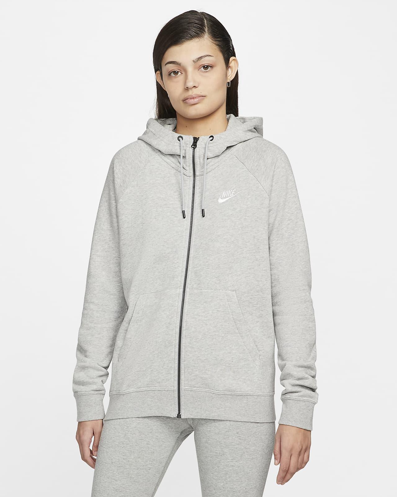 Nike Sportswear Essential-fleecehættetrøje med lynlås til kvinder