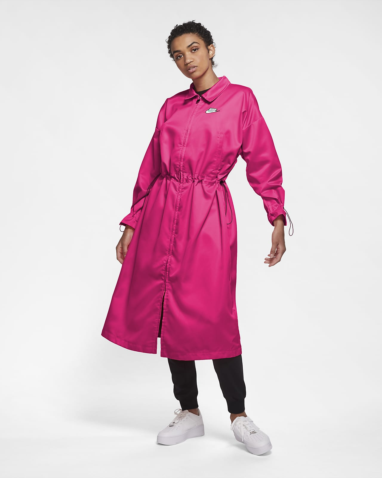 Женская удлиненная атласная куртка Nike Sportswear Icon Clash