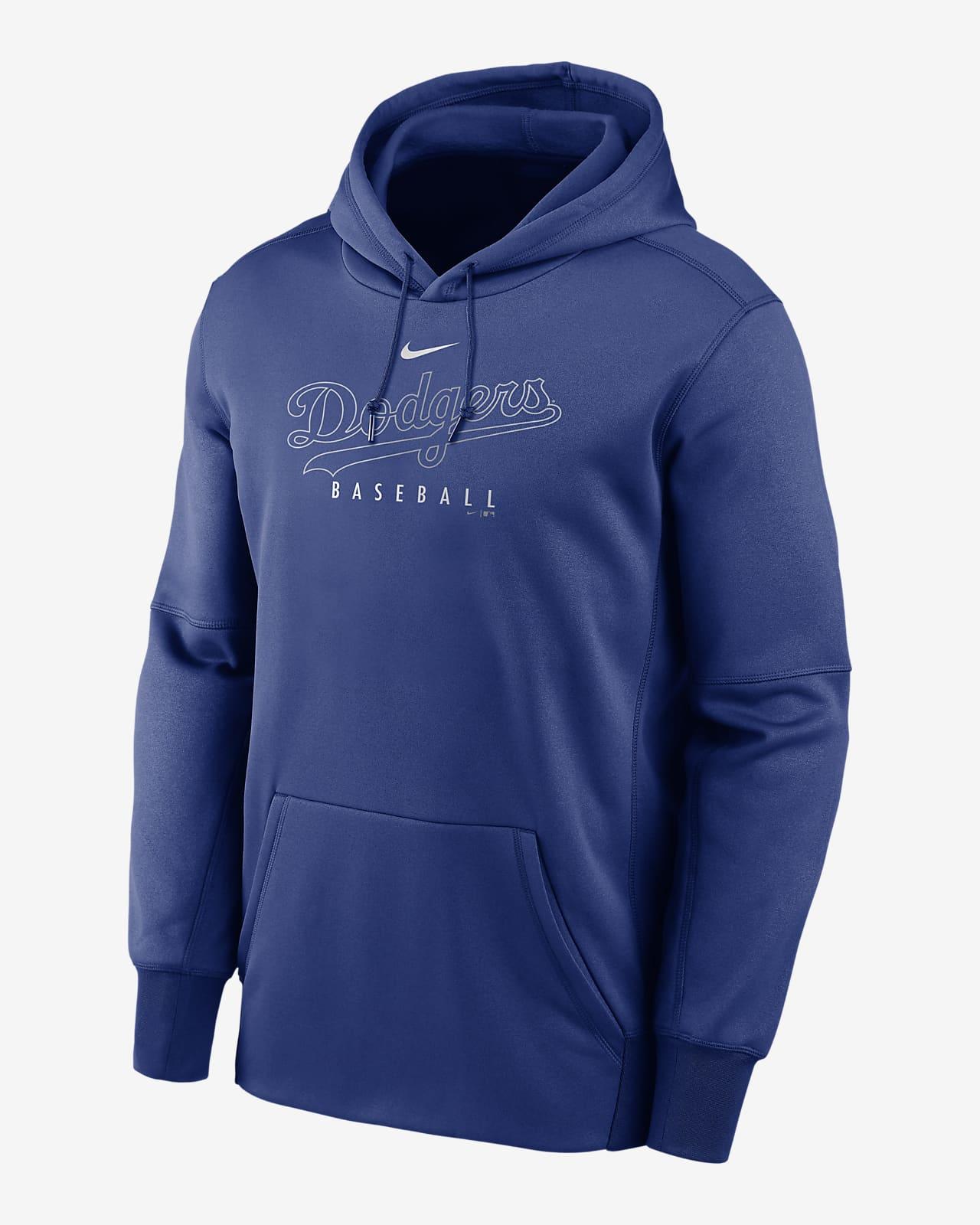 Nike Therma Outline Wordmark (MLB Los Angeles Dodgers) Men's Pullover Hoodie