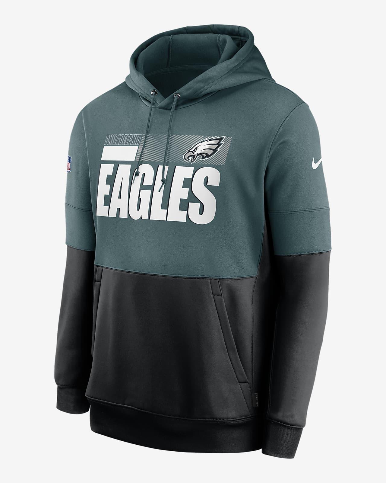 Nike Therma Team Name Lockup (NFL Philadelphia Eagles) Men's Pullover Hoodie
