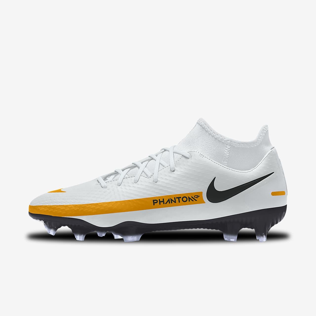 รองเท้าสตั๊ดฟุตบอลสำหรับพื้นหลายประเภทออกแบบเอง Nike Phantom GT Academy By You