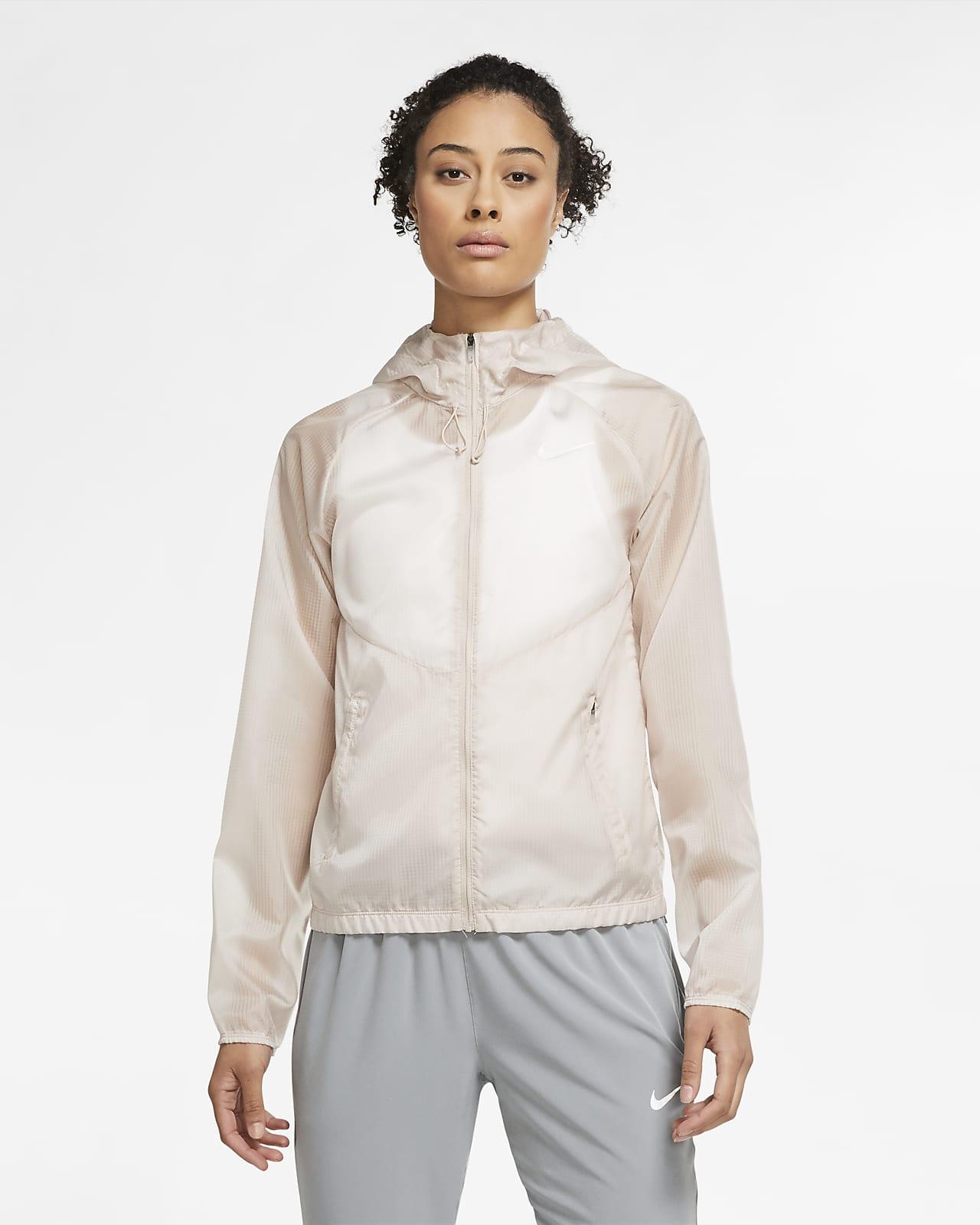 Chamarra de running de cierre completo con capucha para mujer Nike
