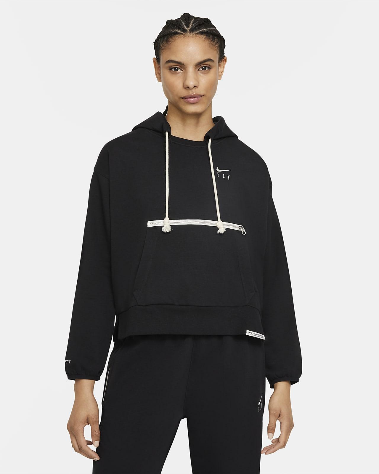 Sudadera con capucha de básquetbol sin cierre para mujer Nike Dri-FIT Swoosh Fly Standard Issue